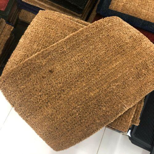 Evideco Sheltered Front Door Mat Coir CocoNUT Fibers Rug Natural