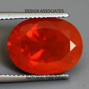MEXICAN FIRE OPAL 6 x 4 MM OVAL CUT CABOCHON ALL NATURAL BEAUTIFUL COLOR