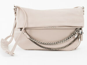 6562d7f20fe Image is loading New-Jimmy-Choo-Biker-S-Beige-Leather-Bag