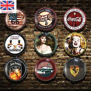 35cm-Metal-Vintage-Beer-Bottle-Caps-Lid-Plaques-Wall-Hanging-Bar-Club-Decoration