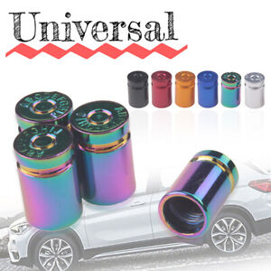 4pcs-Rainbow-Aluminum-Bullet-Car-Truck-Air-Tire-Rim-Valve-Cover-Wheel-Stem-Caps