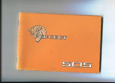 Peugeot 505 Notice D'entretien / Wartung / Manutenzione / Onderhoud 1980 ? Knappe Verschijning