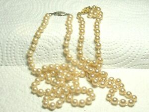 Vtg-G-Silver-Pearl-Necklace