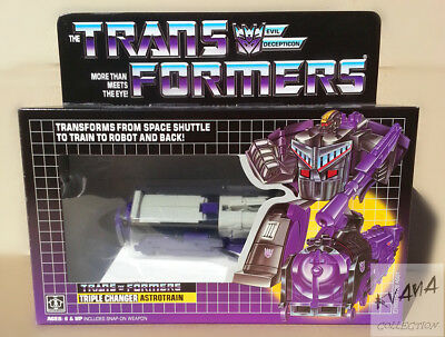 Transformers Reissue G1 TRIPLE CHANGER  ASTROTRAIN MISB