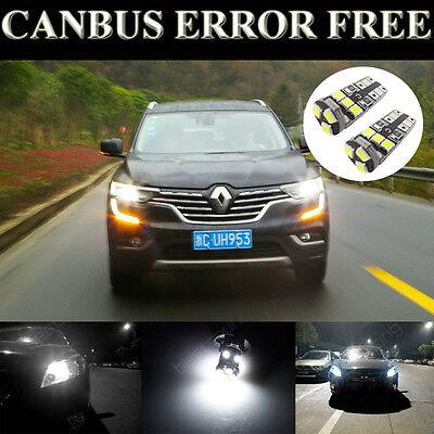 2 Pcs Bright Xenon White LED Side Light Bulb Error Free For Renault Clio MK2