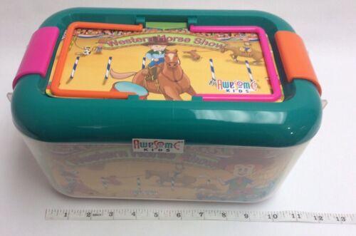 Nouveau 38 PC Western cheval accessoires Kids Set Cheval SHOW Cheval Western 1 jouets