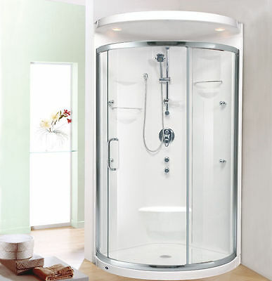 Neptune Alea 32 X Shower Unit Enclosure Backwalls Footrest Seat Round Ebay