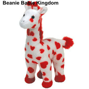 TY-BEANIE-BABIE-SMOOTHIE-THE-WHITE-GIRAFFE-WITH-RED-HEARTS-ON-IT-9-034