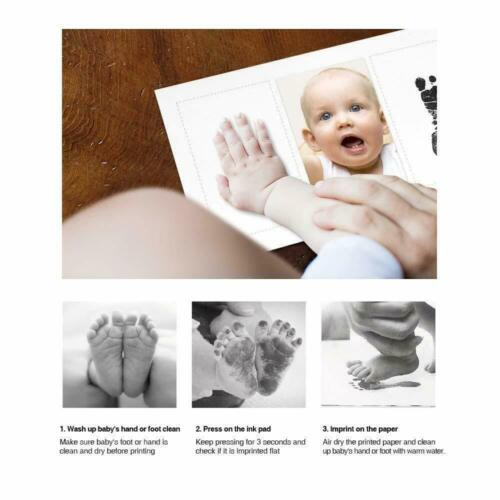 Baby Hand /& Foot Print Clay Cast Kit with 2 Photo Picture Frame Christening Gift