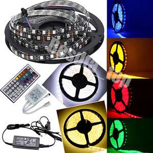 Full-Kit-5M-RGB-5050-SMD-LED-Strip-Light-IP65-44Key-IR-Remote-12V-6A-Adaptor