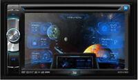 Dual Dxv3d 2 Din In-dash Car 6.2 Touchscreen Cd/sd/dvd/mp3/usb Player Audio