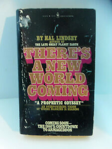 Vintage-There-039-s-A-New-World-Coming-by-Hal-Lindsey-1980-Bantam-Paperback-Book