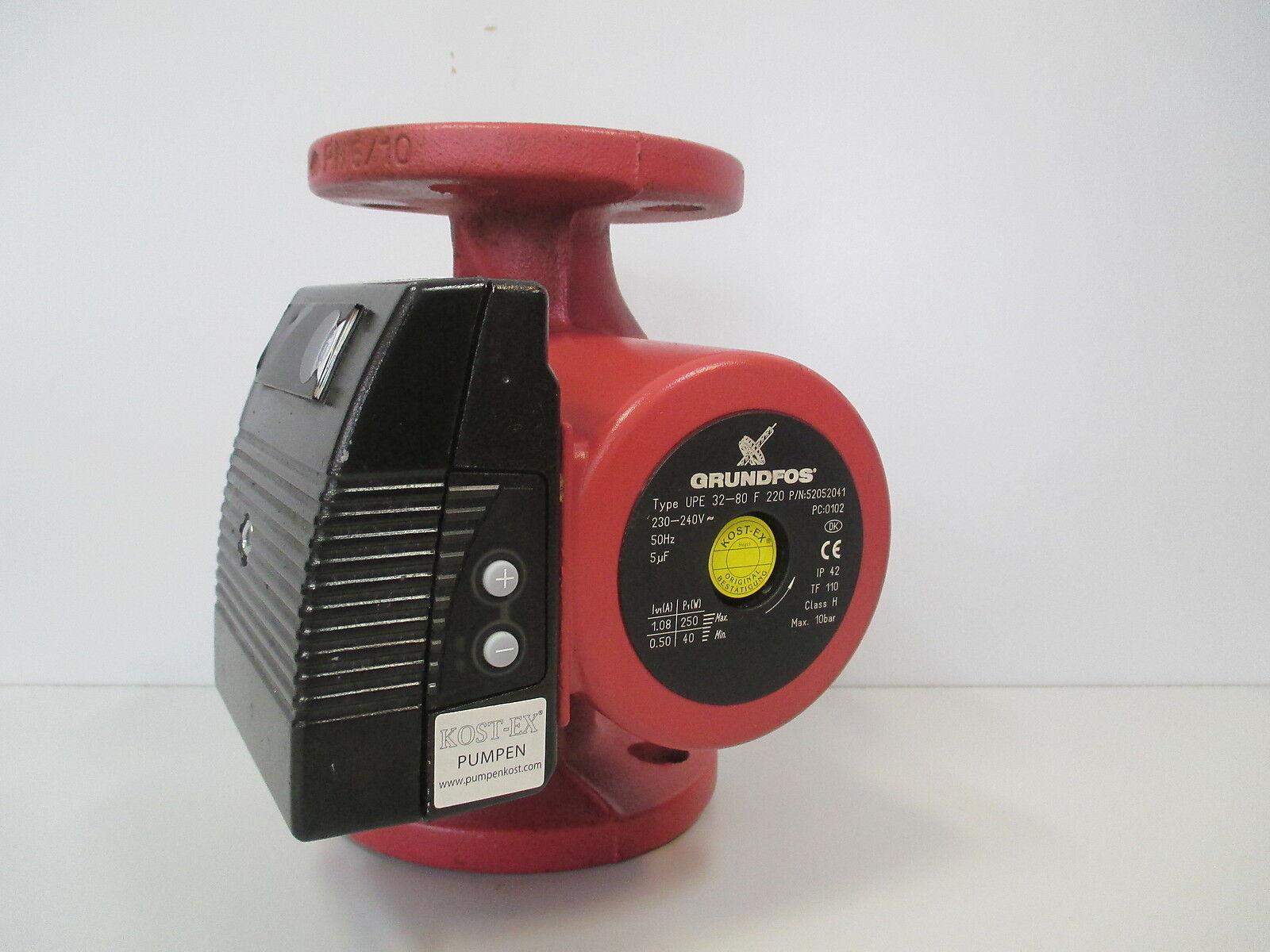 Pumpe Grundfos UPE 32 - 80 F 220 Heizungspumpe 1 x 230 V Pumpenkost P15 418