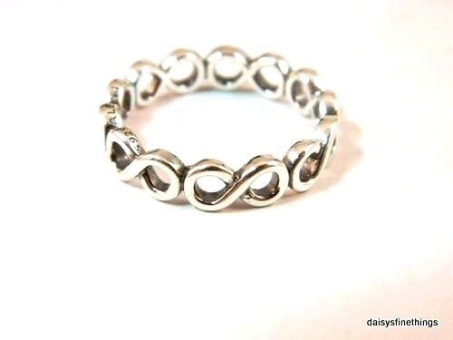 c52e1e158 Authentic PANDORA Infinite Shine Sterling Silver Ring 190994-56 Sz 7.5 for  sale online | eBay