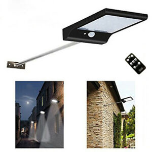 48 LED Solar Powered Motion Sensor Light Outdoor Garden Security Wall Lights UK