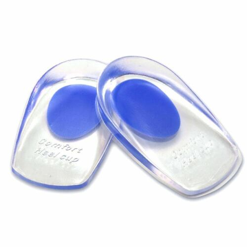 Heel Support Pad Cup Gel Silicone Shock Cushion Orthotic Insole Plantar Care