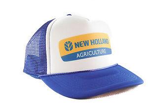 3f3c0f7a New Holland Tractors Trucker Hat mesh hat snapback hat royal blue | eBay