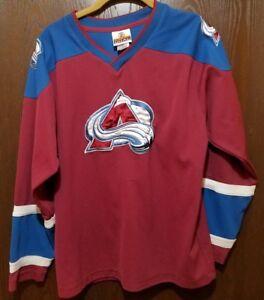 bc30207fad2 Red Joe Sakic Colorado Avalanche #19 Hockey Jersey Youth XL 18   eBay