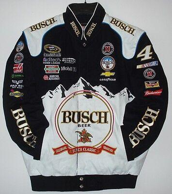 SIZE 2XL Nascar Kevin Harvick Busch Cotton Black And White Jacket JH Design XXL