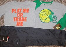 New! Boys Nike 3 pc Lot/Outfit (2 Shirts, Pants; Play Me; Train Game) - Size 6
