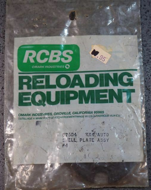 RCBS 4X4 Auto Shell Plate Assembly  4-(87604)-NOS