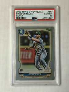 SHELDON NEUSE 2020 Gypsy Queen SILVER SP RC #217! PSA GEM MINT 10! A's! INVEST!