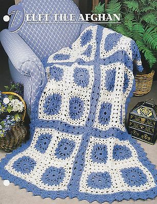 Delft Tile Afghan Annies Afghan Quilt Club Crochet Pattern
