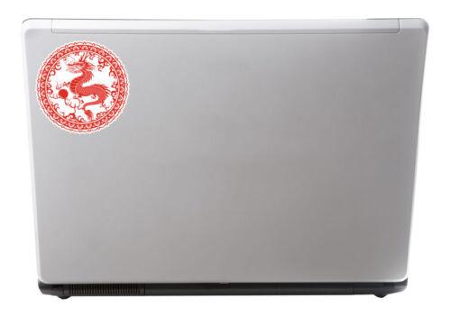 2 x Chinese Dragon Sticker Martial Arts Karate Car Bike iPad Laptop Decal #4085