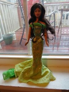 Birthstone Barbie August Peridot Brunette DOLL ONLY No box or accessories