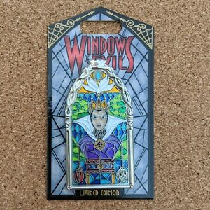 Evil-Queen-Windows-of-Evil-Pin-2019-Disney-Villain-Disneyland-Snow-White-LE-2000