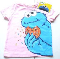 T-Shirt Gr.128 Sesamstrasse NEU m.E 100% Baumwolle Krümelmonster rosa kinder