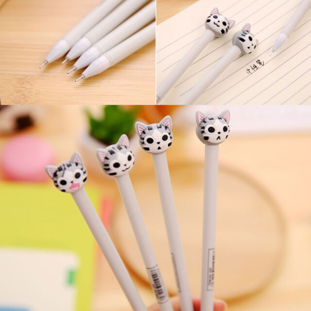 4pcs/Lot Cute Chi' Cat Ball Point Pen Ballpoint Creative Stationery Student