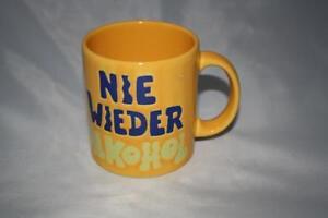 Nie wieder Alkohol  Wächtersbach Becher Henkelbecher 0,33L Tasse alte Serie 2.Wa