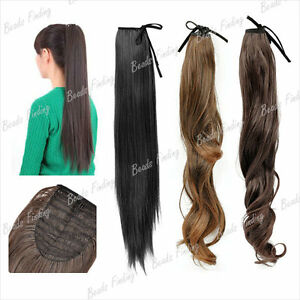 55-50-45-Synthetic-Fiber-Straight-Curly-hairpiece-Wrap-Round-Pony-Tail-Extension