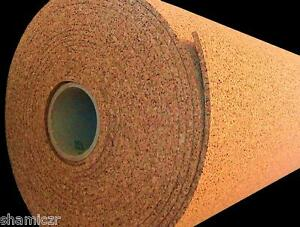 """4'x1'x1/4"""" (BY THE FOOT) NATURAL CORK SOUNDPROOFING HOME THEATER ACOUSTIC PANELS"""