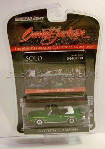 1970 /'70 PONTIAC GTO JUDGE BARRETT JACKSON SERIES 3 GREENLIGHT DIECAST