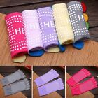 1 Pair Women Cotton Yoga Gym Toe Full Grip Socks Colorful Non Slip Massage Socks