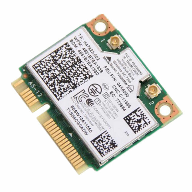 For Intel 7260 7260HMW AC Dual Band WiFi BT 4.0 Wlan Mini PCI-E Card 04X6010