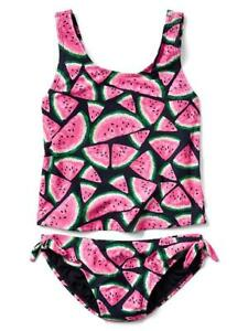 d53f152365c66 Gap Kids Girl's Spring 2017 Watermelon Tank Two Piece Swim Suit M 8 ...