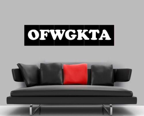 "OFWGKTA BORDERLESS MOSAIC TILE WALL POSTER 50/"" x 12/"" HIP HOP RAP"