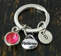 Patience Keychain, Patience Charm, Patience Pendant, Balance, Personalized