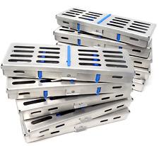 10 German Dental Autoclave Sterilization Cassette Rack Box Tray For 5 Instrument