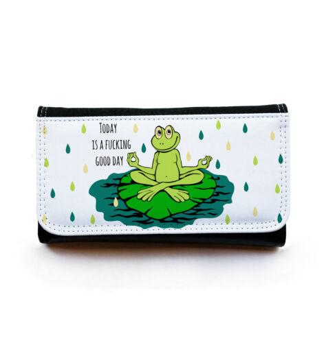 Geldbörse Portemonnaie Geldbeutel Portmonee Yoga Frosch good day gbg022