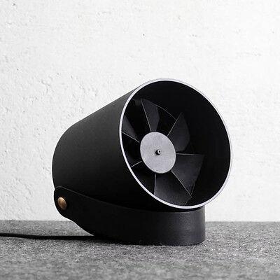 VH Ultra-Quiet USB Powered Portable Desk Fan Dual Motor Double Fan - Black