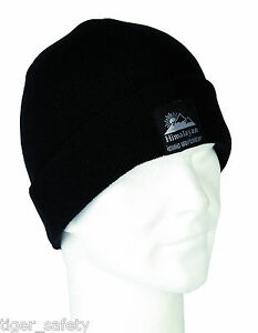 2463909ff54 Himalayan H850BK Warm Black Winter Beanie Ski Hat Skull Cap Thermal ...
