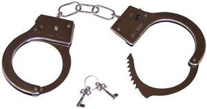 MENOTTES-metal-Police-Accessoire-Deguisement-Policier-NEUF