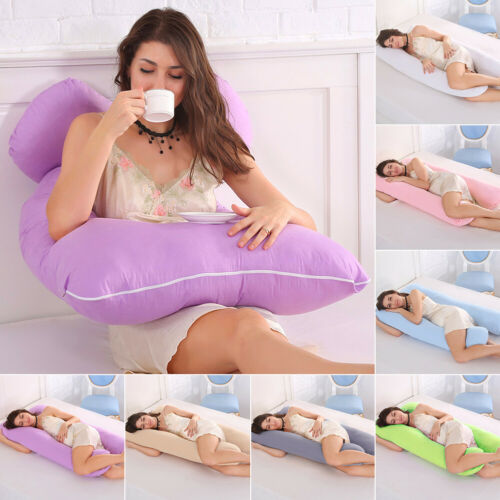 U-Shaped Body Pillow Support Pregnant Maternity Women Sleeping Cushion Cover USA