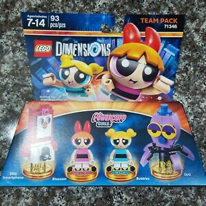 LEGO Dimensions NEW Powerpuff Girls Team Pack Set 71346 Building Toys 93 Pcs