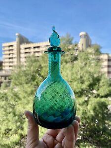 🔴 Antica bottiglia in vetro di Murano con lavorazione a canne tipo Venini