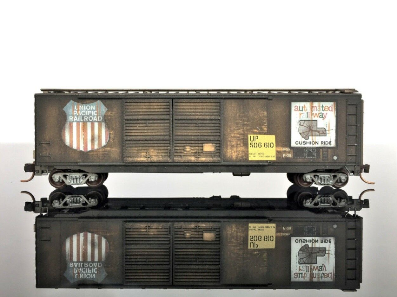 MTL Micro-Trains 03444090 50' Standard Box Car Double Doors WEATHErot UP  506610